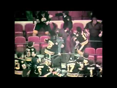 Boston Bruins vs New York Rangers - Fight In The Stands