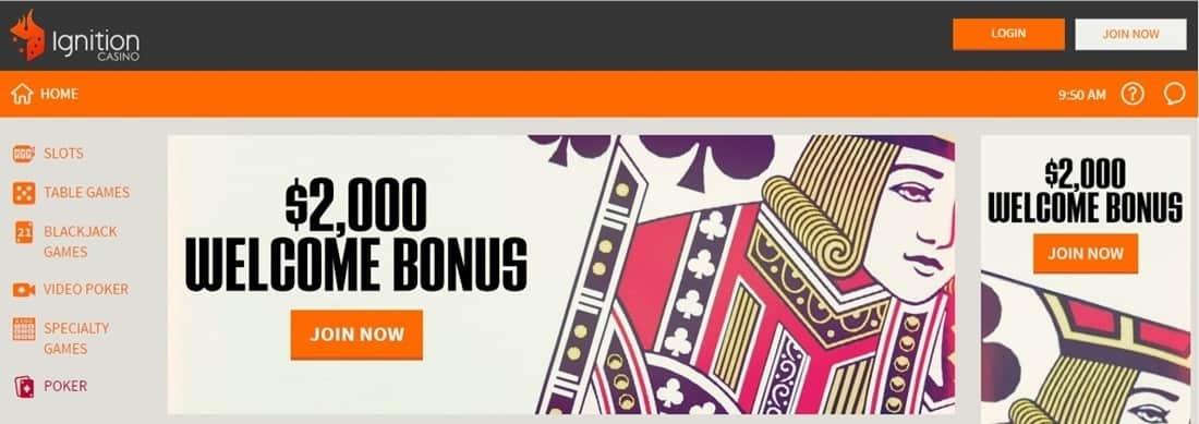 Ignition Casino Welcome Bonus