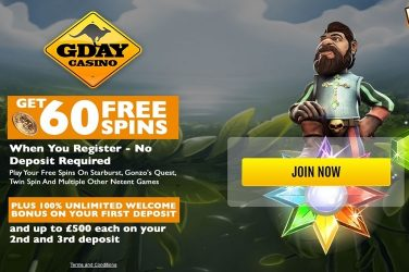 Gday Casino Free Spins