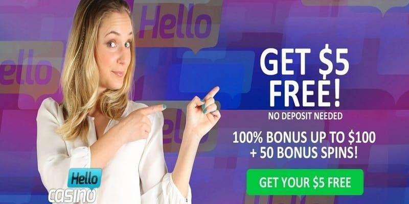 Hello Casino – $5 No Deposit Bonus