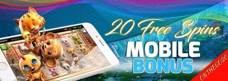 Vegas Crest Mobile Bonus – 20 Free Spins