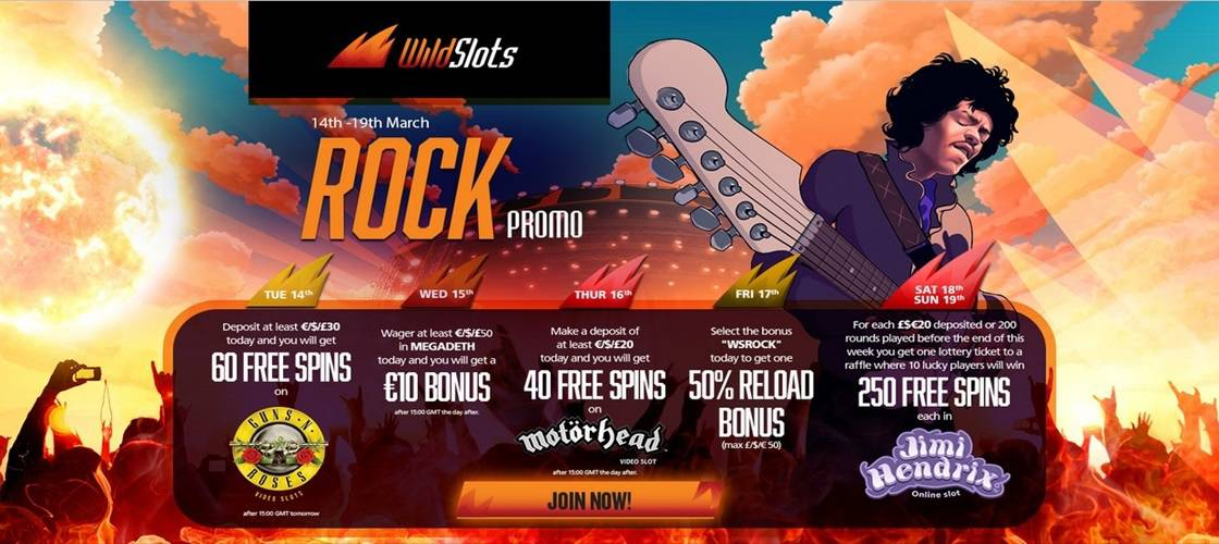 Wild Slots Rock Promotion