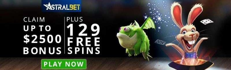 $/€2500 plus 129 Free Spins