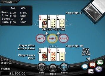 Tri Card Poker Win