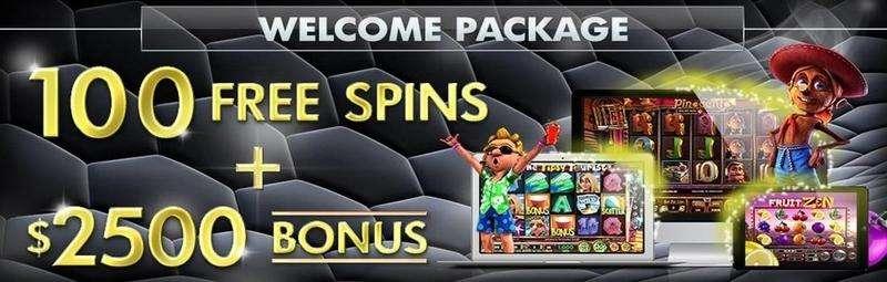 Vegas Crest Welcome Bonus up to $2500 & 100 Spins