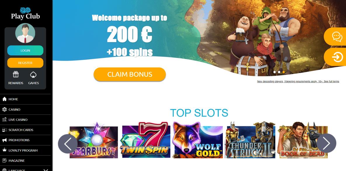 PlayClub Casino Website