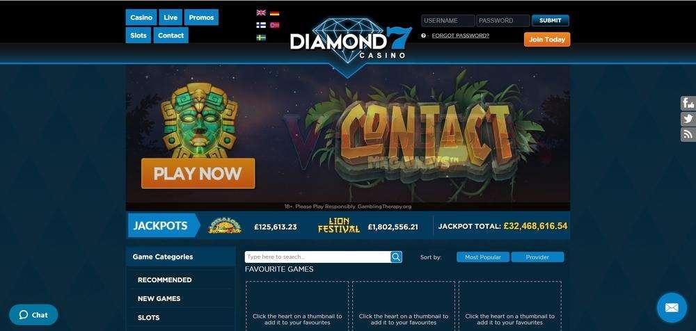 Diamond7 Casino Website