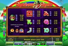 Rainbow Reels Paytables
