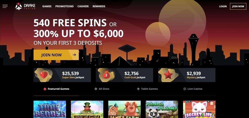 Drake Casino Website