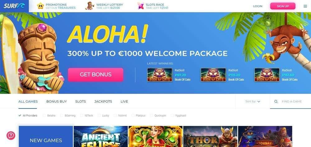 Surf Casino Website