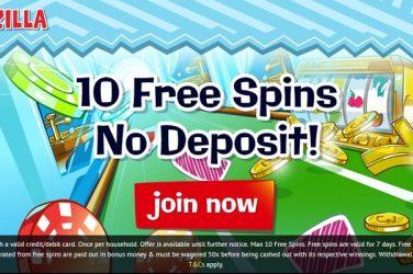 Spinzilla Free Spins