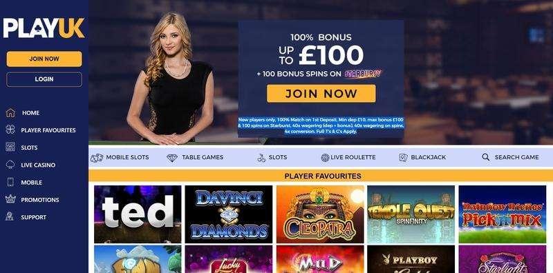 PlayUK Casino Website