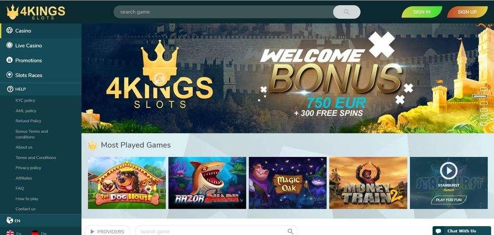 4King Slots Casino Website