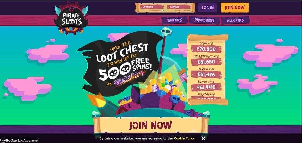 Pirate Slots Casino Website