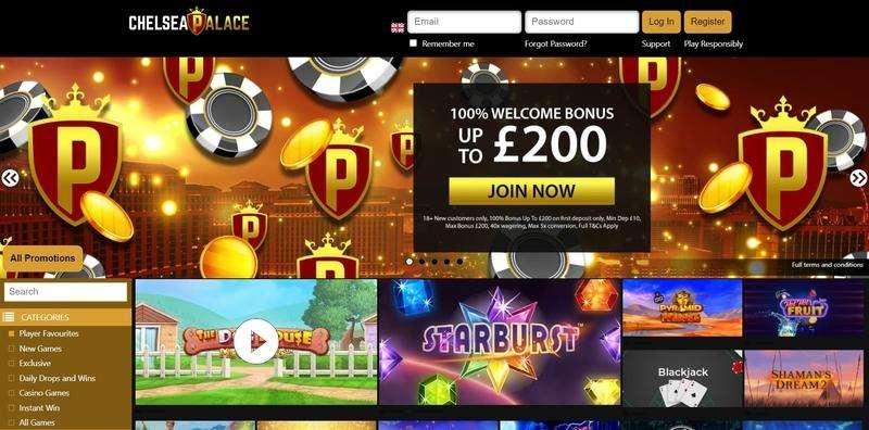 Chelsea Palace Casino website