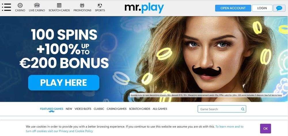 Mr Play Casino Website