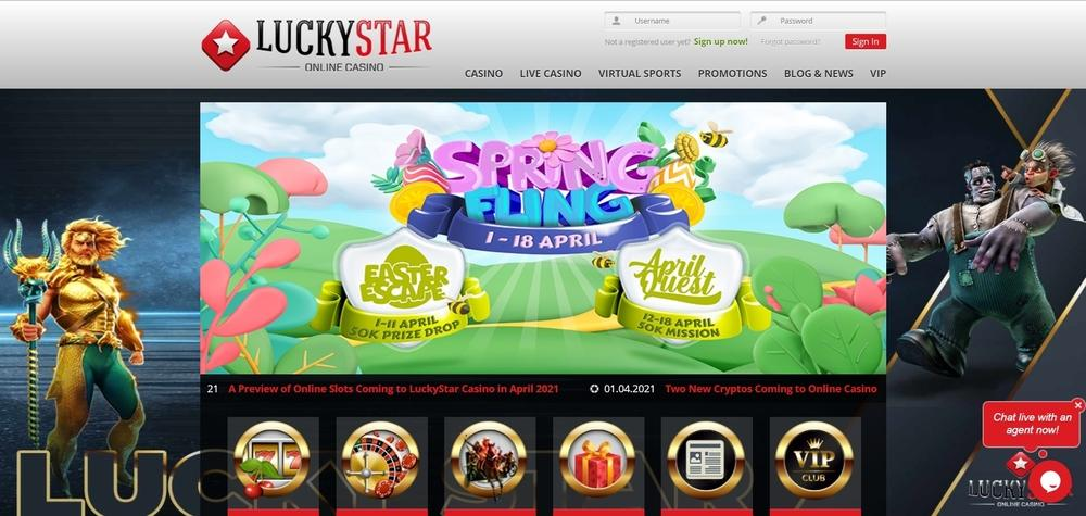 LuckyStar Casino Website