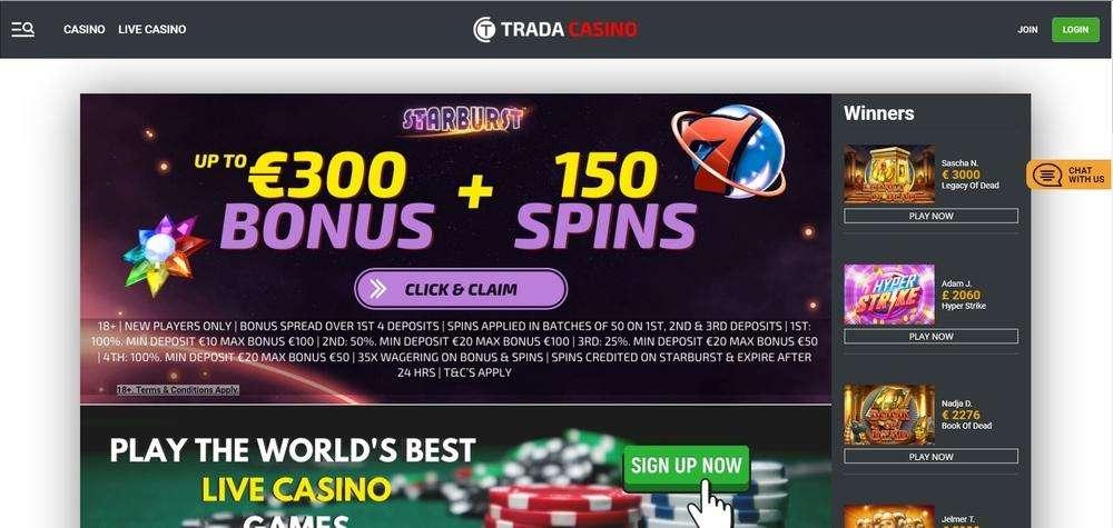Trada Casino Website