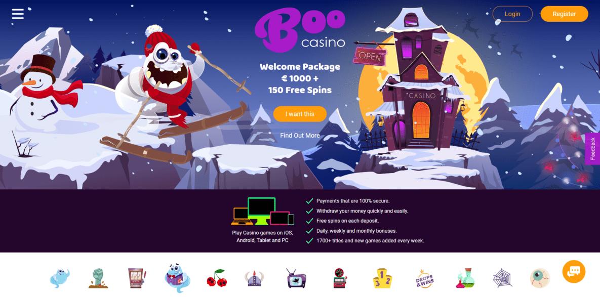 Boo Casino Website