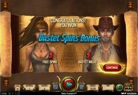 Bastet Spins Bonus