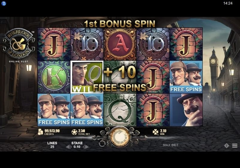Sherlock of London Slot Free Spins