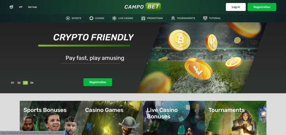 CampoBet Casino Website