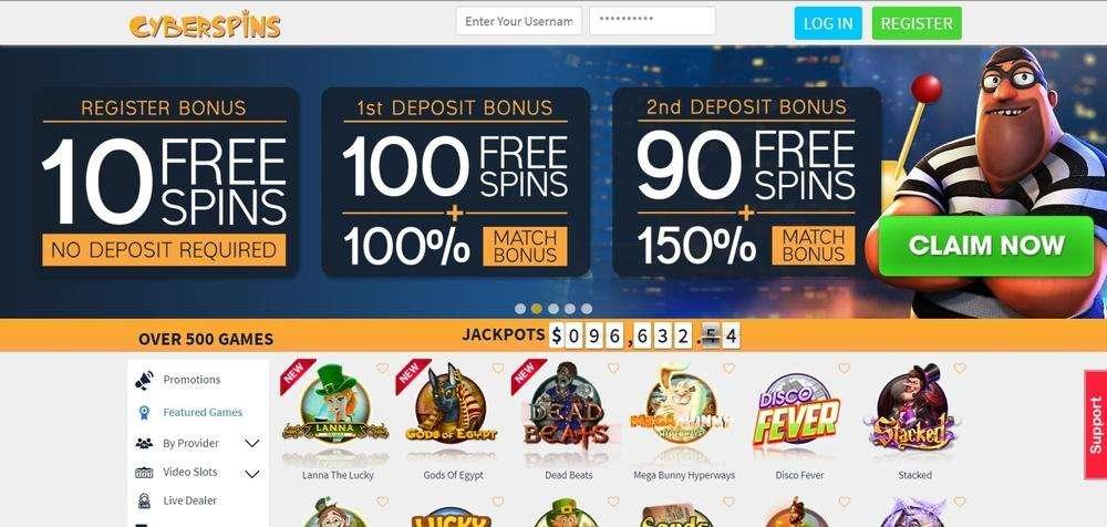 CyberSpins Casino Website