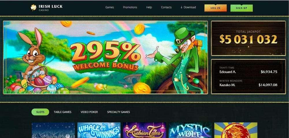 Irish Luck Casino Website