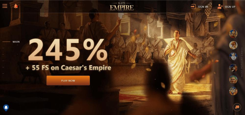 Slot Empire Casino Website
