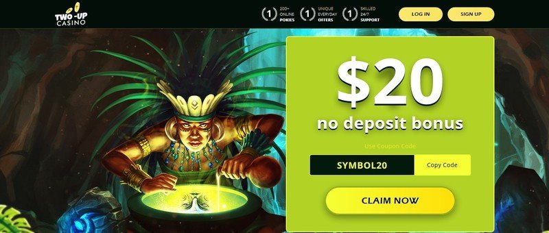 Two-Up Casino No Deposit Bonus