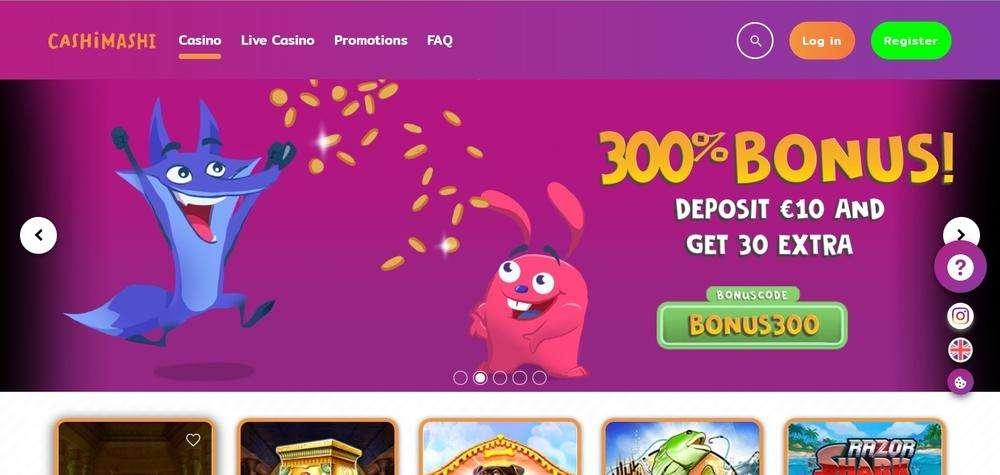 CashiMashi Casino Website