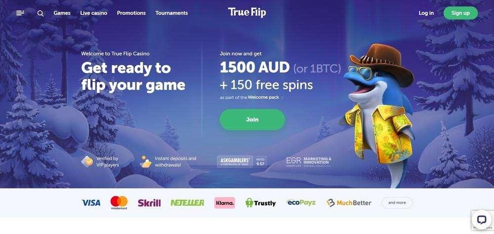 TrueFlip Casino Website