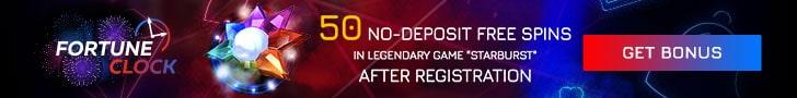 Fortune Clock No Deposit Free Spins Bonus