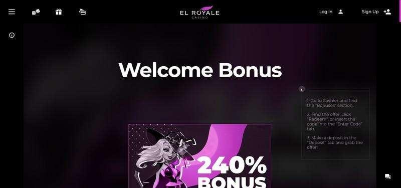El Royale Casino Welcome Bonus Codes