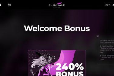 El Royale Casino Welcome Bonus