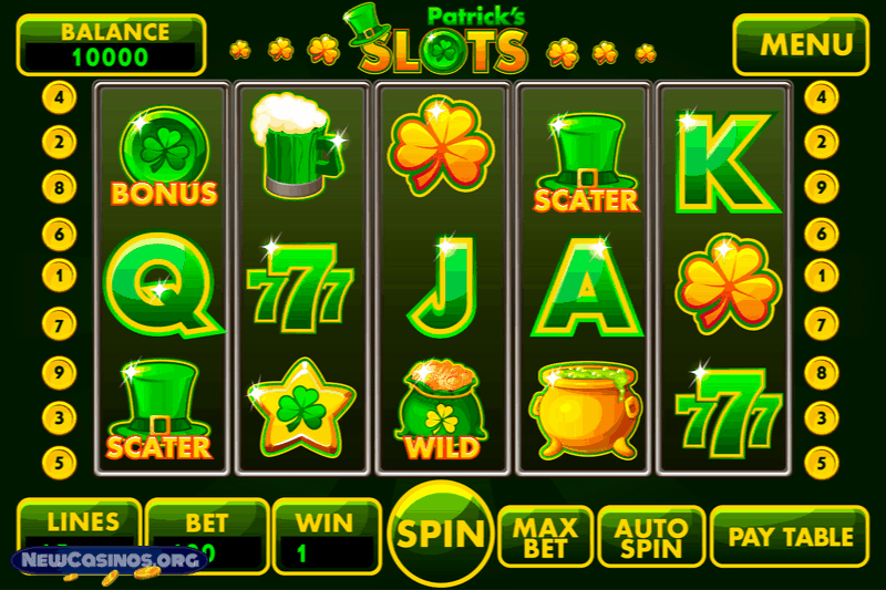 Irish Themed Online Slots
