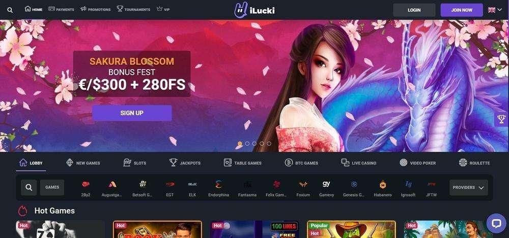 iLucki Casino Website