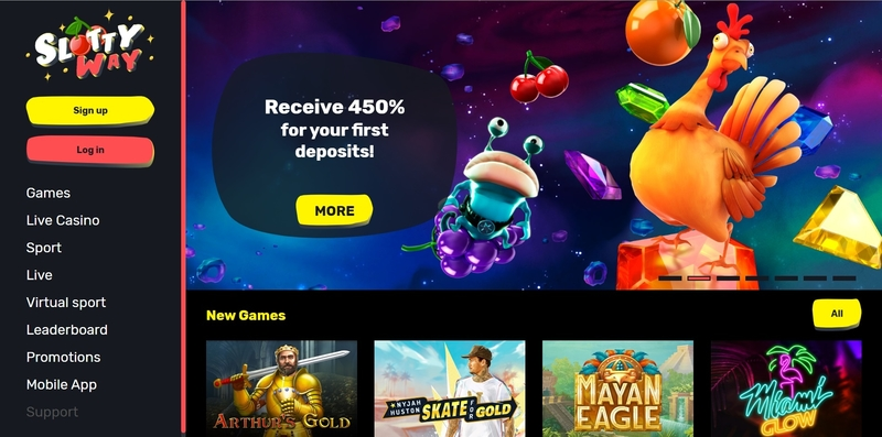 Slottyway Casino Website