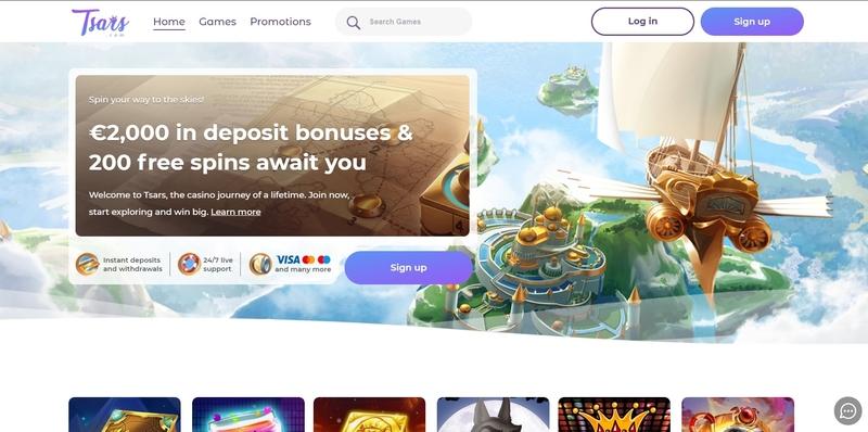Tsars Casino Website