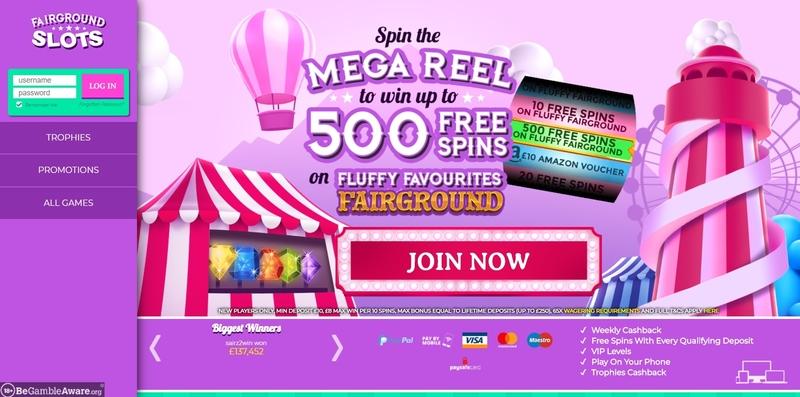 Fairground Casino Website