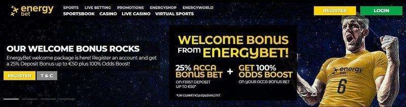EnergyBet Sports Welcome Bonus
