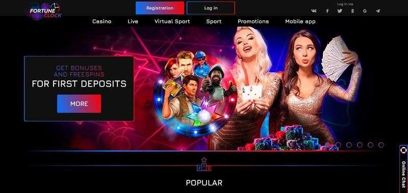 Fortune Clock Casino Welcome Bonus