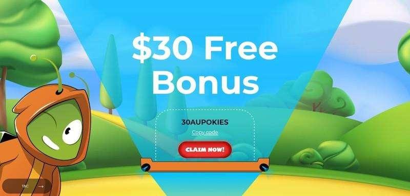 Aussie Play $30 Free Chips Bonus