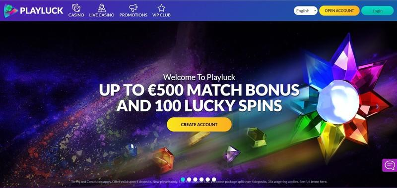 PlayLuck Casino Welcome Bonus