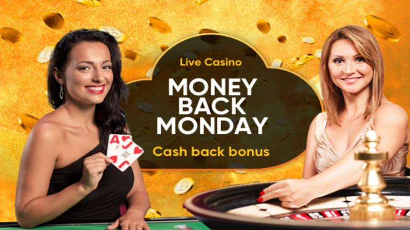 Live Casino Money Back Monday Bonus at Cloudbet