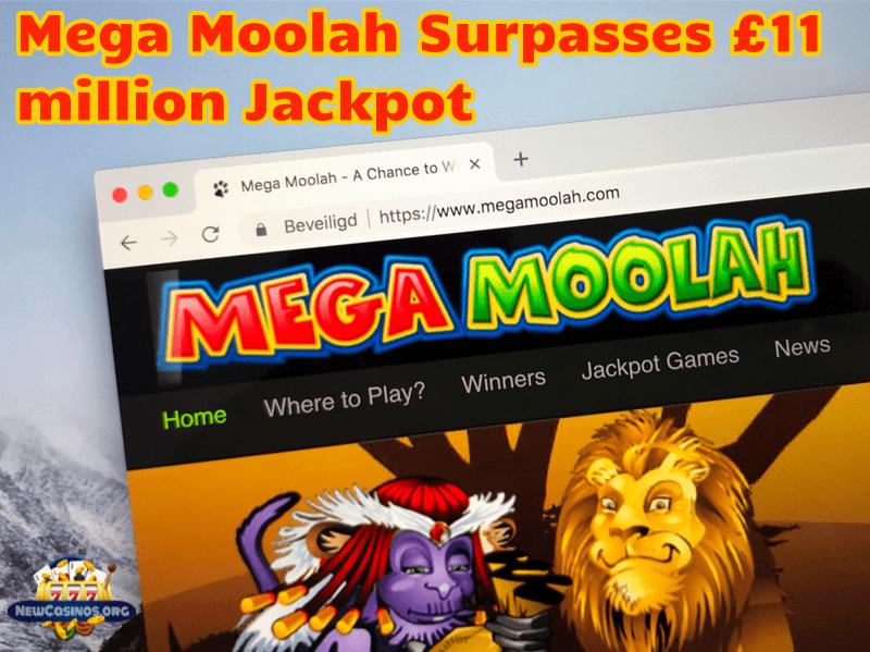 Mega Moolah Surpasses £11 million Jackpot