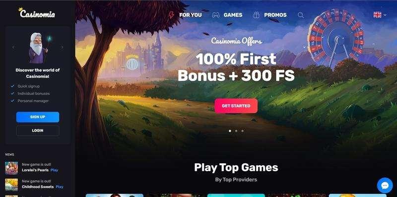 Casinomia Casino Website