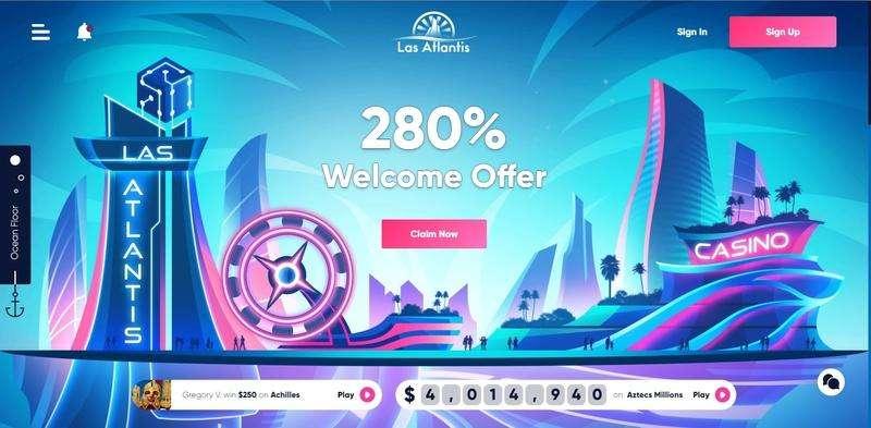 Las Atlantis Casino Website
