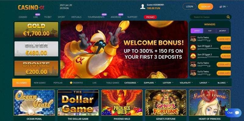 Casino Alpha Website