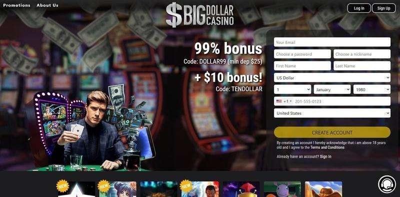 Big Dollar Casino Free Spins Bonus